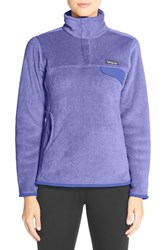 Women's Patagonia 'Re Tool' Snap Pullover Ploy Purple Violet Blue