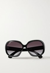 Ray Ban Jackie Ohh Ii Oversized Square Frame Acetate Sunglasses Black