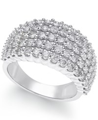 Macy's Diamond Band 2 Ct. T.W. In 14K White Gold