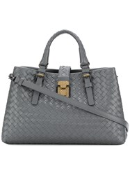 Bottega Veneta Medium Roma Bag Leather Grey
