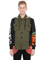 Moschino Techno Gabardine And Satin Field Jacket