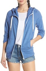 Zella Well Played Zip Hoodie Blue Marmara Heather