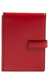 Lodis Rfid Leather Passport Wallet Red