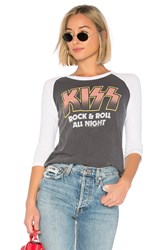 Junk Food Kiss Rock And Roll All Night Tee Charcoal