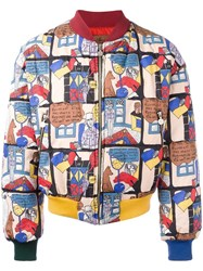 Jc De Castelbajac Vintage Cartoon Printed Bomber Jacket Multicolour
