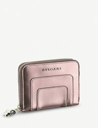 Bulgari Serpenti Forever Metallic Leather Wallet