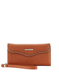 Rebecca Minkoff Mab Phone Case Charging Wristlet Brown
