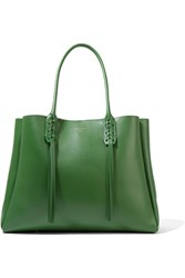 Lanvin The Shopper Small Leather Tote Green