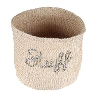 The Basket Room 'Stuff' Embroidered Hand Woven