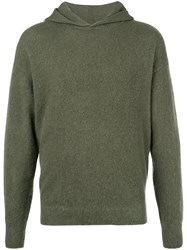 Massimo Alba Textured Style Hoodie Green