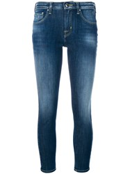 Jacob Cohen Kimberly Cropped Skinny Jeans Cotton Lyocell Polyester Blue