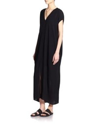 Helmut Lang Kaftan Maxi Dress Black