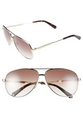 Men's Marc By Marc Jacobs 60Mm Stainless Steel Aviator Sunglasses Gold Brown Gradient