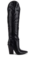 Steve Madden Ranger Boot In Black. Black Leather