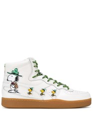 Lc23 Snoopy High Top Trainers White