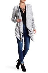 Mavi Jeans Shawl Collar Cardigan Gray