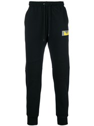Fendi Logo Patch Track Trousers Black
