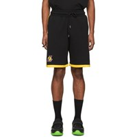Marcelo Burlon County Of Milan Black Nba Edition Lakers Shorts