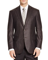 Jack Victor Loro Piana Box Check Classic Fit Sport Coat Charcoal Brown