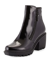 Opening Ceremony Grunge Double Zip Leather Bootie