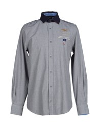 Aeronautica Militare Shirts Shirts Men Grey