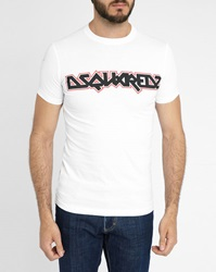 Dsquared White Sexy Fit Iron Maiden T Shirt