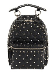 Valentino Garavani Mini Rockstud Spike Leather Backpack Black