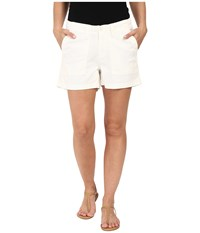 Dylan By True Grit Effortless Stretch Cotton Classic Cargo Shorts White Women's Shorts