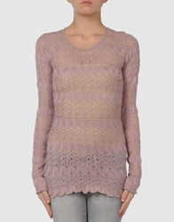 Martine Sitbon Long Sleeve Sweaters Pastel Pink