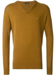 Raf Simons V Neck Jumper Nude And Neutrals