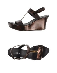 Audley Sandals Dark Brown