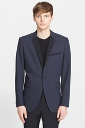 Theory 'Wellar' Trim Fit Wool Dinner Jacket Blue