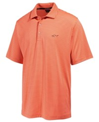 Greg Norman For Tasso Elba Men's 5 Iron Striped Performance Polo Only At Macy's Coral