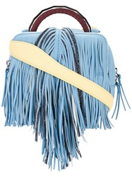 The Volon Fringed Crossbody Bag Blue