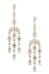 Nadri Marquise Cz Chandelier Earrings Metallic