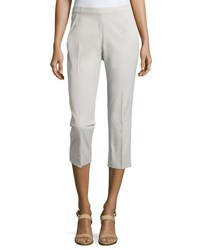 Neiman Marcus Cropped Bi Stretch Pants Dove