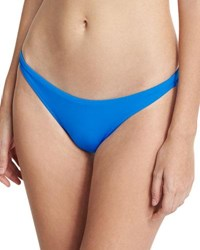 Milly St. Lucia Italian Solid Swim Bottom Blue