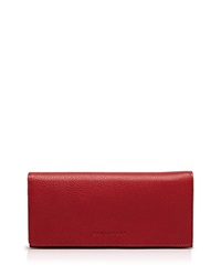 Longchamp Wallet Veau Foulonne Checkbook Vermillion