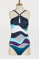 Vilebrequin July 20Th Feinte One Piece Swimsuit Multi Blue