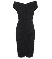 The Row Hali Ruched Dress Black