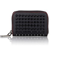 Christian Louboutin Men's Panettone Zip Around Coin Purse Black Blue Black Blue