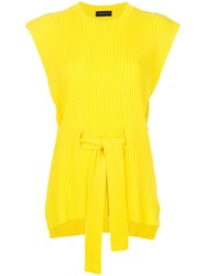 Cashmere In Love Jaqueline Open Side Vest Yellow And Orange