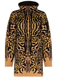Givenchy Turtleneck Cheetah Jacquard Jumper 60
