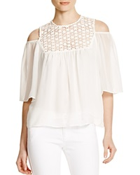 Lucy Paris Crochet Boho Top Ivory