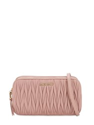 Miu Miu Quilted Leather Camera Bag Orchidea