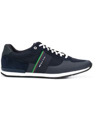 Paul Smith Ps By Stripe Detail Logo Trainers Blue
