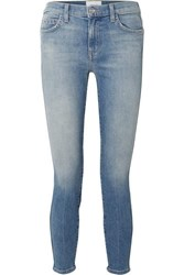 Current Elliott The Caballo Cropped High Rise Skinny Jeans Mid Denim