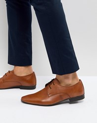 Pier One Leather Derby Shoes In Tan Tan