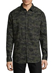 Sovereign Code Camouflage Cotton Button Down Shirt