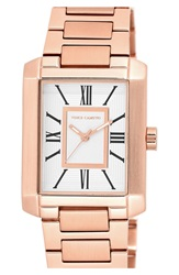 Vince Camuto Rectangle Bracelet Watch 40Mm Rose Gold White
